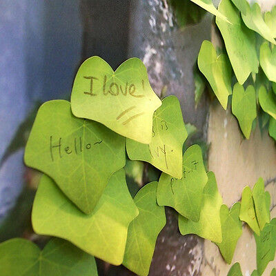 Cute Green Leaf Sticky Note Memo Pad Leaf-it Sticker Post It Bookmark Desk
