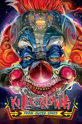 F-940 Killer Klowns from Outer Space Classic Movieposter print24x36 canvas decor