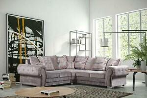 Strange Details About Verona Corner Fabric Sofa Set Mink Suite Luxury Foam Seats Couch New Large Sofas Home Interior And Landscaping Mentranervesignezvosmurscom