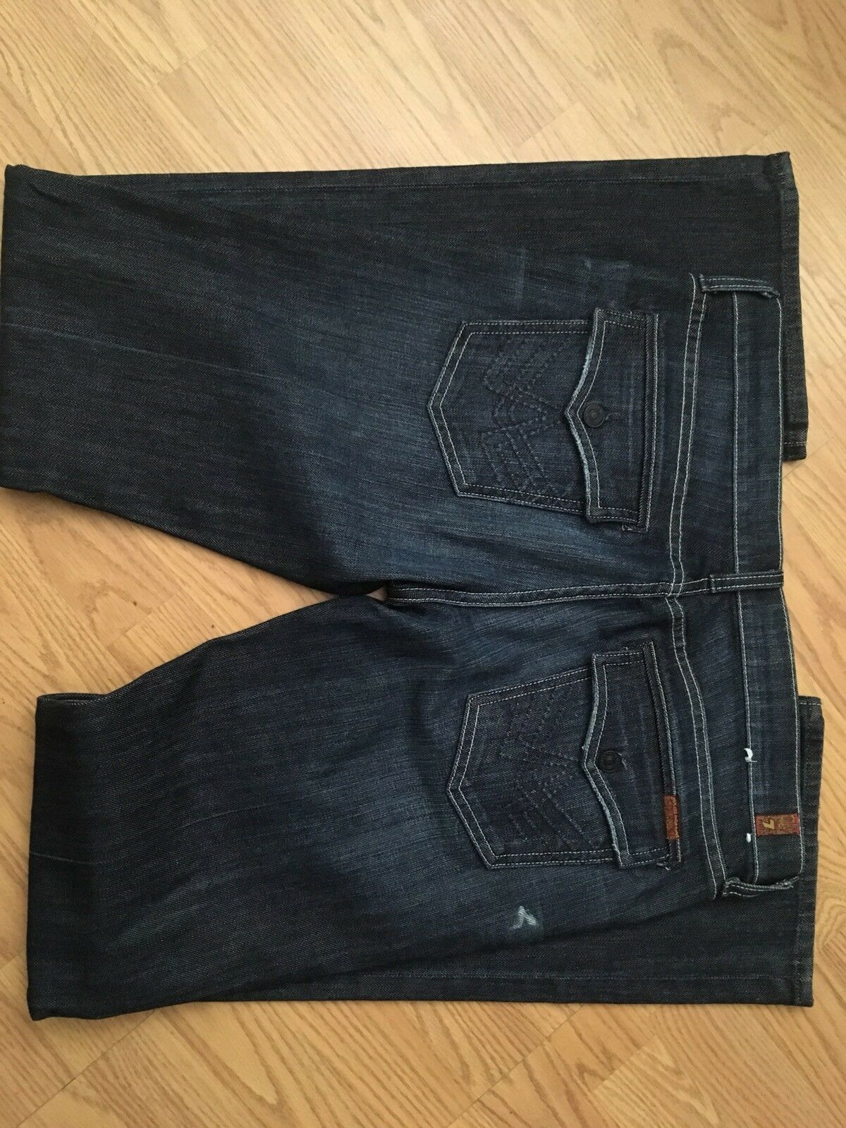 7 For All Mankind womens 32 Bootleg Dark Wash Jeans EUC Seven For All Mankind