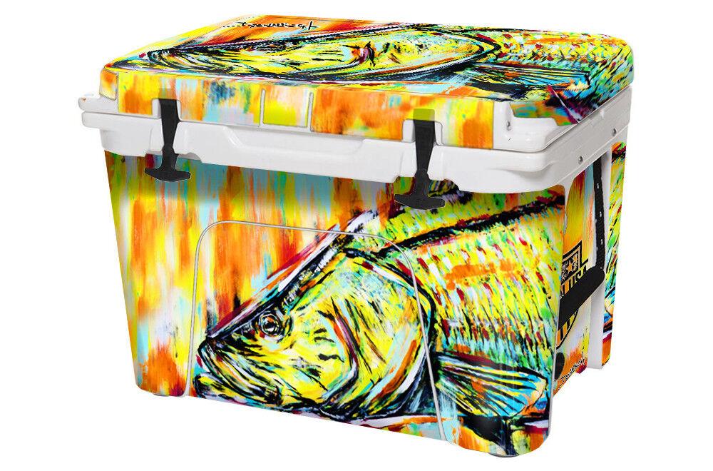 USATuff Cooler Decal Wrap fits YETI Tundra 35qt FULL Danforth Snook