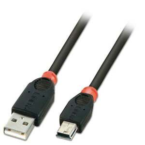Lindy-3-M-USB-2-0-Cable-Tipo-Un-a-Mini-B-Negro