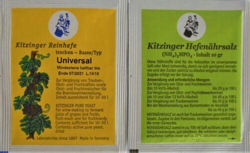 HEFENÄHRSALZ 10g WEINHEFE Trockenhefe 5g Arauner Kitzingen universal
