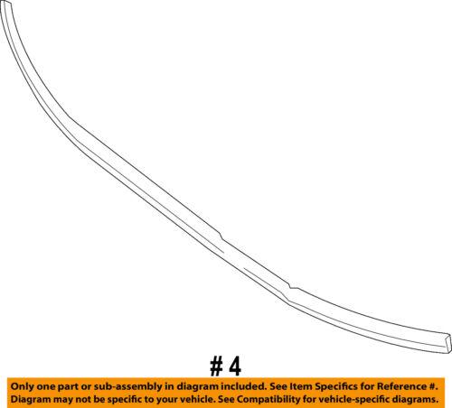 Mercedes MERCEDES-BENZ OEM Sprinter 3500 Radiator Core Support-Seal 9066280098