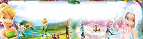 TINKERBELL-3 SECRET FARIES  ART//POSTER //BANNER//PICTURE  W// YOUR NAME