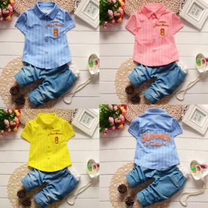 Summer Toddler Kids Baby Boys Beard T Shirt Tops+Shorts Pants Clothes Set 0-24M