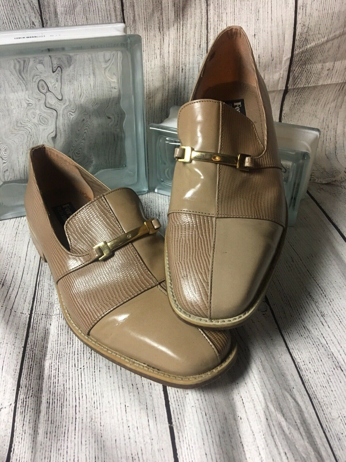 Men's shoes Slip On Size 10.Fortune From Liberty Brown All Leather Bit Loafer