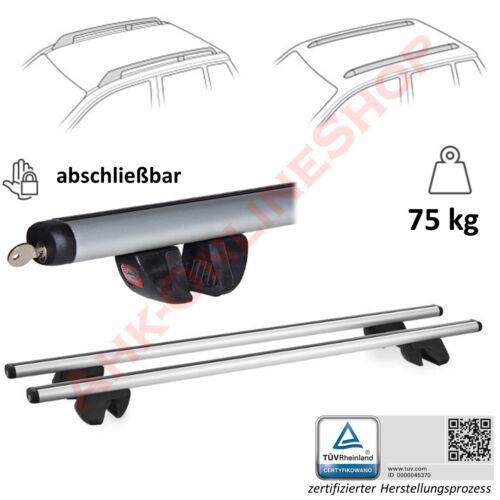 Alu relingträger uni portaequipajes de techo bloqueable alfa 13 Opel Zafira B año 2005-2011