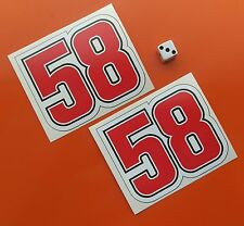 x2 Marco Simoncelli Stickers 58 sticker decal 95mm x 80mm 7 year vinyl