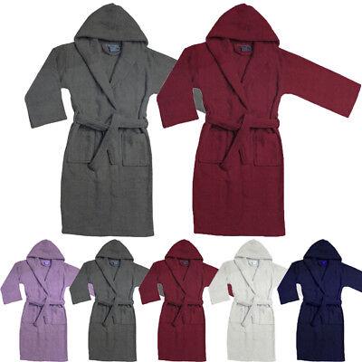 100/% Cotton Ladies Bathrobe Mens Bath Robe Women Terry Towelling Dressing Gown