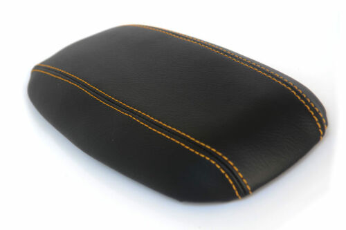 Console Armrest Real Leather Cover for Ford Mustang 94-04 Yellow Stitch