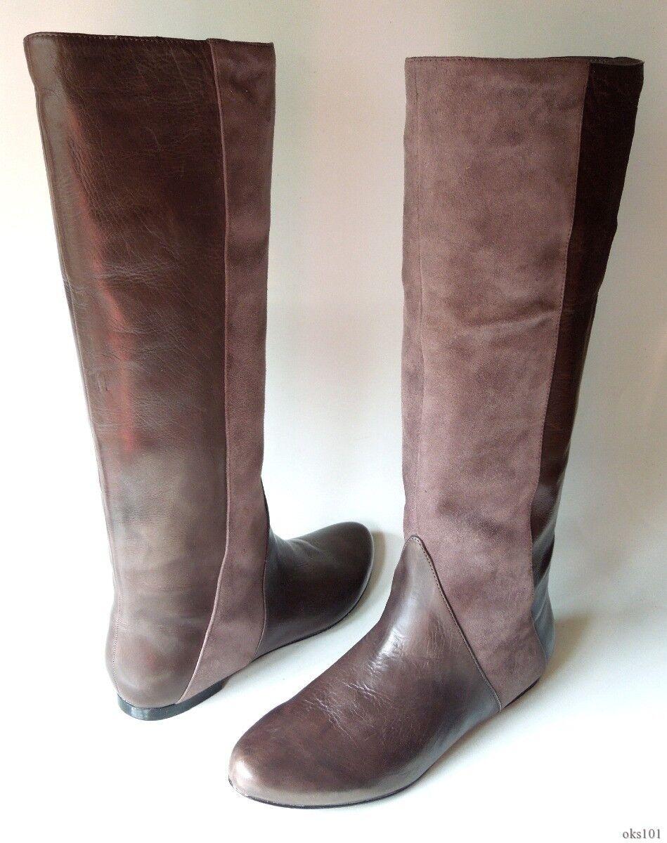 presa di marca New  495 SIGERSON MORRISON Belle taupe leather leather leather FLAT ANKLE stivali 6.5 - super hot  sconto online di vendita