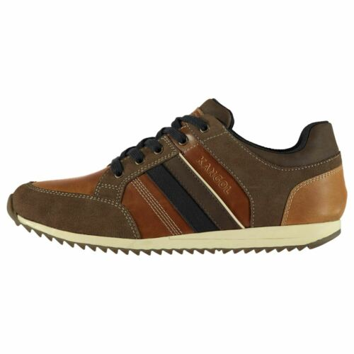 Kangol Morden Leather Sneakers Mens Gents Everyday Shoes Laces Fastened Padded