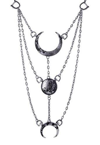 Restyle collar fases lunares Gothic luna Moon Sailor Necklace librería steampunk