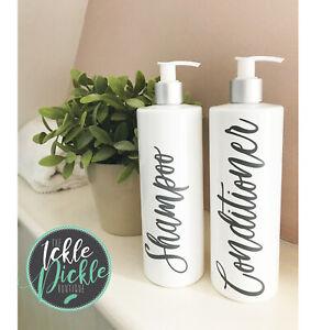 Details About White Personalised Pump Bottles Mrs Hinch Bathroom Soap Dispenser Kitchen