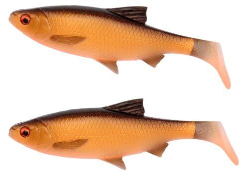 Savage Gear 3d River Roach Pagaie Tail 18cm//22cm 2er Pack Loose Body Caoutchouc Poisson