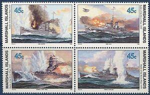 Marshall Islands 1989 World War 2 WW II Scott 242-5 Battle River Plate W4 NH