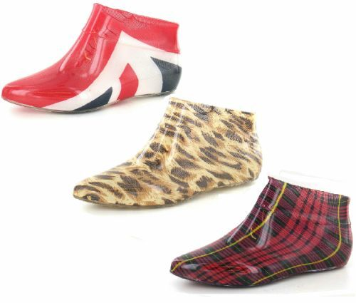 **SALE** LADIES ANKLE WELLINGTON BOOTS UNION,TARTAN,L<wbr/>EOPARD SIZES 3-8 X1186