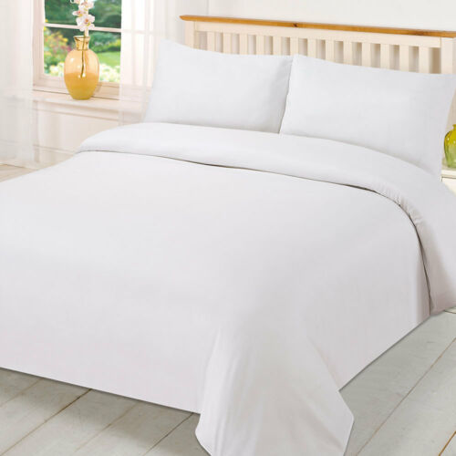 White Poly-cotton Plain Dyed Fitted Bed Sheet All Size Top Quality