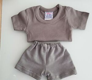 2-Piece-Grey-Shirt-half-Pants-For-Approx-9-13-16-11in-Bears