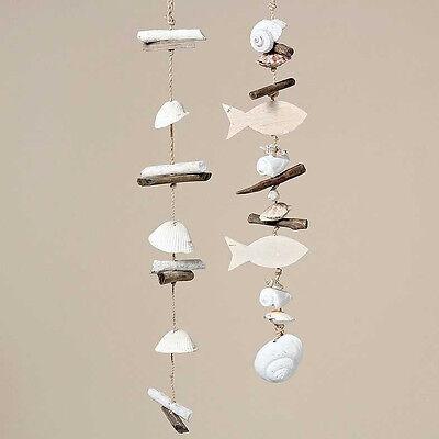 Mediterrane Girlande Capiz Muschel Windspiel Treibholz Shabby Chic