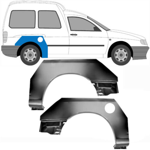Volkswagen Caddy Seat Inca 1995-2004 Radlauf Reparaturblech Kotflügel Paar