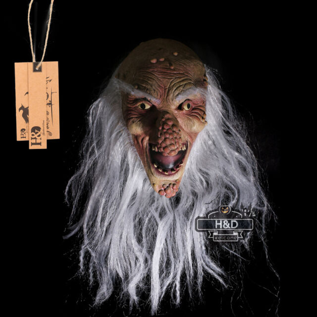 Scary Old Man Halloween Mask | Scary Latex Bald Old Man Big Nose Halloween Mask Fancy Dress Costume