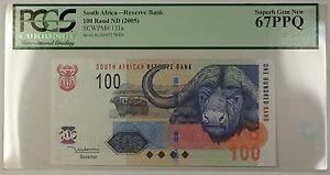 (2005) No Date South Africa 100 Rand Note SCWPM# 131a PCGS Superb Gem 67 PPQ