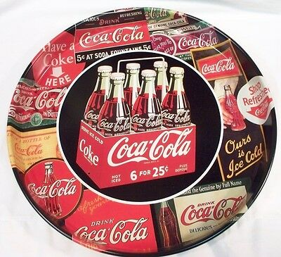 "Coca-Cola 1950""s 6 Pack W/Sign Art Tray"