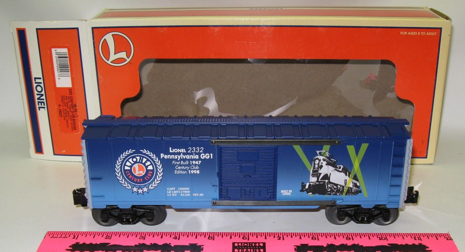 Lionel New 6-29227  1998  GG-1 2332 Century club boxcar