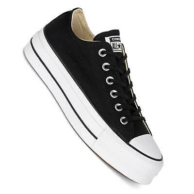Converse plateau Chucks Ctas Lift Ox platform Ladies sneaker Black/White |  eBay