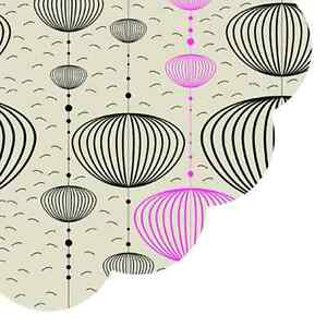 Details about Modern 12 Paper ROUND Napkins SWING WITH THE CLOUDS DECOUPAGE  Pink Crafts Ø32cm