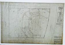 ORIGINAL 1915 BOSTON BRAVES FIELD STADIUM HANDDRAWN INK ON VELUM BLUEPRINT