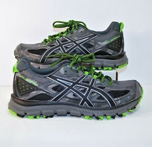brand new 27b3c 0217f Details about Asics Gel Scram 3 Carbon Black & Green Trail Running Shoes Sz  7.5 NEW T6K2N 9790