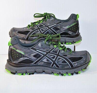 Asics Gel Scram 3 Carbon Black & Green Trail Running Shoes Sz 7.5 NEW T6K2N 9790 | eBay