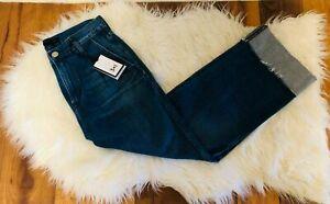 NEW 3x1 NYC Womens Denim Jeans Medium wash Sz 25 Pleated Oscar MSRP $245