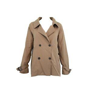 finest selection 56b35 f3809 Dettagli su Cappotto Trench Donna SCEE by TWIN-SET SS72JA Beige Moka