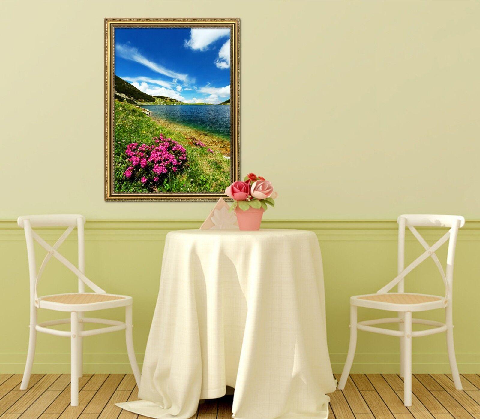 3D Field Flower 69 Framed Poster Home Decor Print Painting Art AJ UK