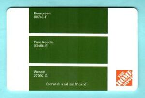 The Home Depot Scratch Sniff Shades Of Green 2007 Gift Card 0 Ebay