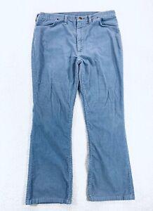 Vintage Wrangler Pantalones De Pana Bootcut Azul 80s Para Hombre Talla 36x30 Ebay
