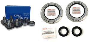 Suzuki Jimny Front Axle Kingpin Swivel Joint Bearings /& Halfshaft Oil Seal
