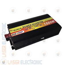 INVERTER AD ISOLA ONDA SINUSOIDALE PURA 1500W (max3000W) DA 12V DC A 220V AC