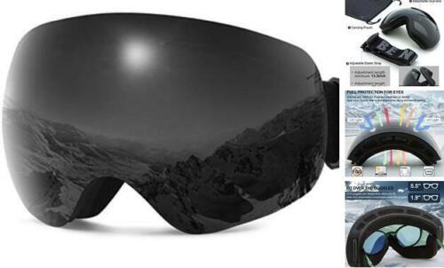 Ski Snowboard Goggles Men OTG Over Glasses Snow Goggles One Size Black-vlt 14/%