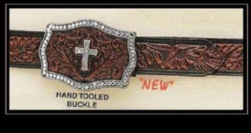Crystal Cross Buckle 82 Nocona ~ WESTERN BELT /& Buckle ~ Hand-Tooled