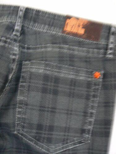 mi skinny People's gris noir Nouveau P287 écossais haute Liberation Jean court taille 27 CwHFxB4qO