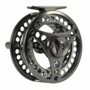 CNC-Machined-7-8WT-Fly-Reel-Gunsmoke-Large-Arbor-Aluminum-Fly-Fishing-Reel