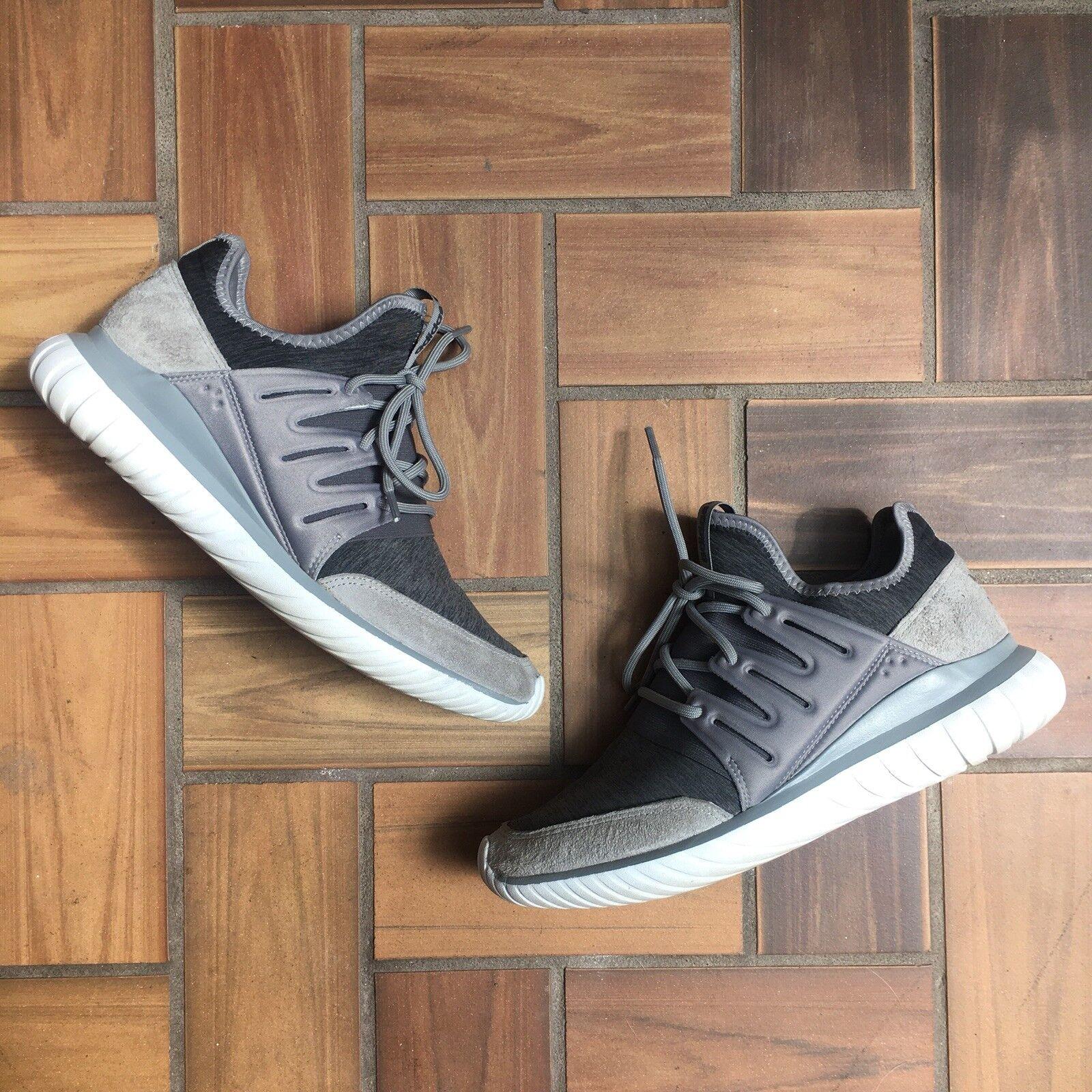 Adidas Originals Tubular Radial / Fleece Grey White / Men's 10.5