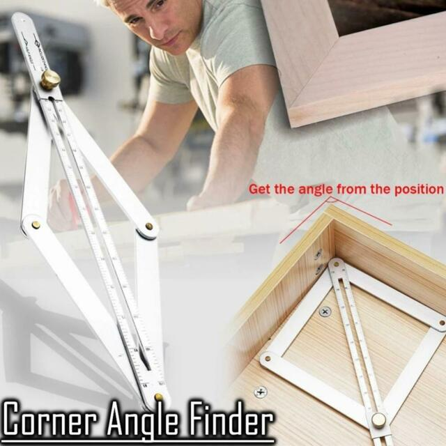 US Stainless Steel Corner Angle Finder Ceiling Artifact Tool Square Protractor