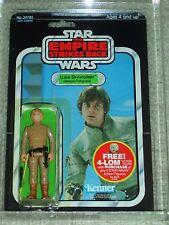 Vintage Star Wars 1980 AFA 80 LUKE SKYWALKER BESPIN BROWN HAIR ESB Back card MOC