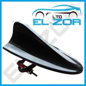Large-Working-Shark-Fin-Style-Aerial-Antenna-Mast-12v-Black-Car-Upgrade-Stereo